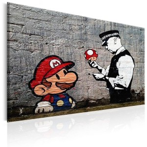 Obraz - Mario and Cop by Banksy