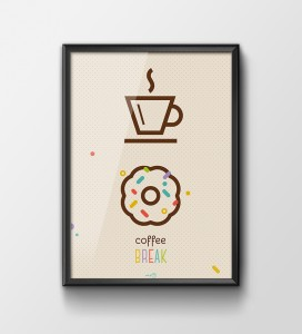 Plakat 'Coffe break'