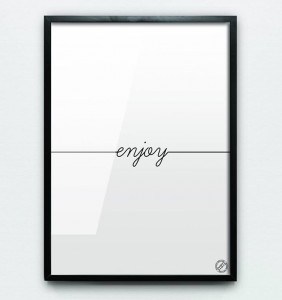 "Plakat ""ENJOY"""
