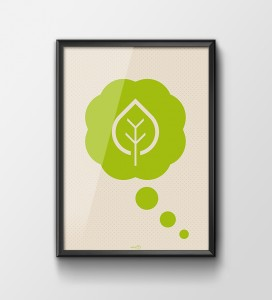 Plakat 'Think green'